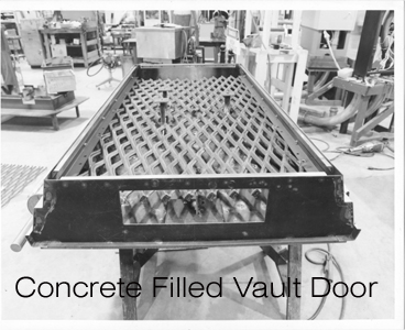 Concrete-filled Vault Door