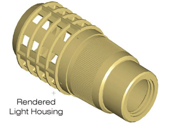 Rendered Light Housing
